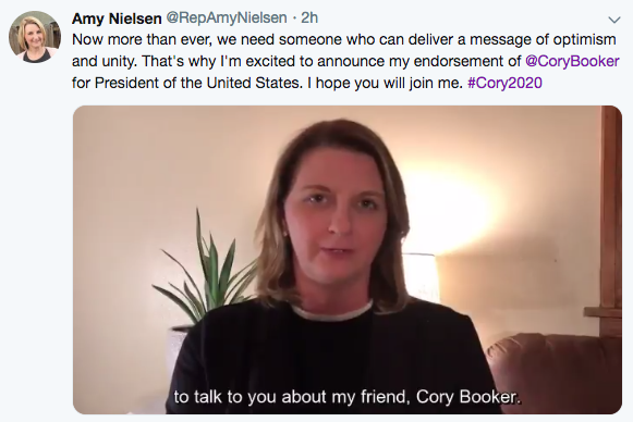 Iowa Endorsements for Cory Booker for President